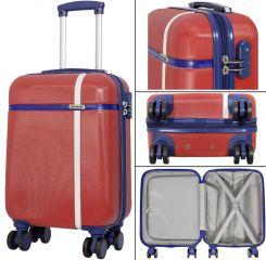 Cestovní kufry ABS sada BERGEN L,M,S červená MONOPOL E-batoh