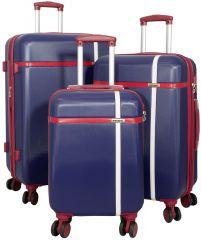 Cestovní kufry ABS sada MONOPOL  L,M,S modré