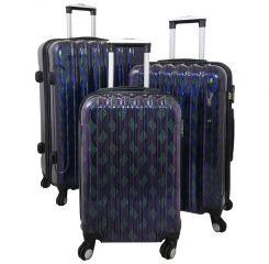 Cestovní kufry sada BOLOGNA  L,M,S modrá