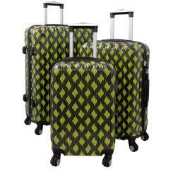 Cestovní kufry sada BOLOGNA  L,M,S zelená