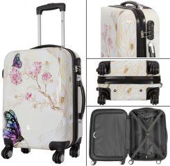 Cestovní kufry sada Motýl na kytce L,M,S MONOPOL E-batoh