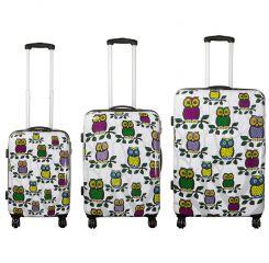 Cestovní kufry sada Sovičky II L,M,S