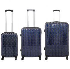 Cestovní kufr BOLOGNA střední M modrý MONOPL E-batoh