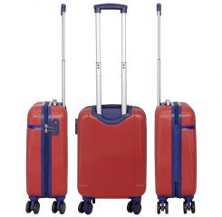 Cestovní kufr ABS BERGEN velký L červený MONOPOL E-batoh