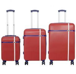 Cestovní kufr ABS BERGEN malý S červený MONOPOL E-batoh