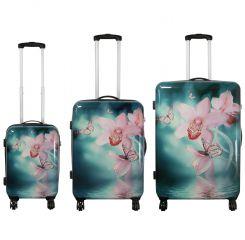Cestovní kufr ORCHIDEJE velký L