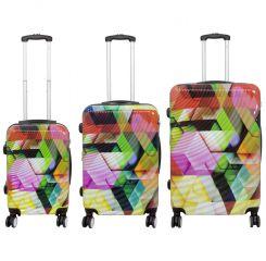 Cestovní kufr ABSTRAKCE střední M