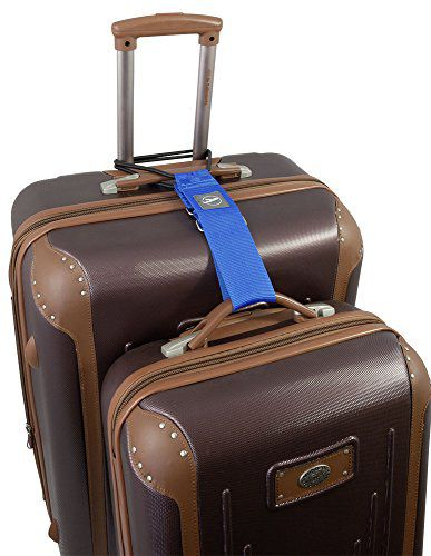 Popruh pro spojení kufru a tašky modrý