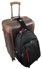 Popruh pro spojení kufru a tašky modrý MONOPOL E-batoh