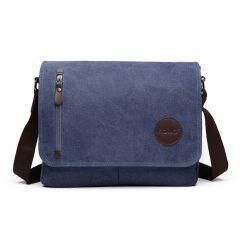 KONO pánská crossbody messenger taška E1824 modrá