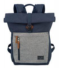 Travelite Basics Roll-up Backpack Navy/Grey E-batoh