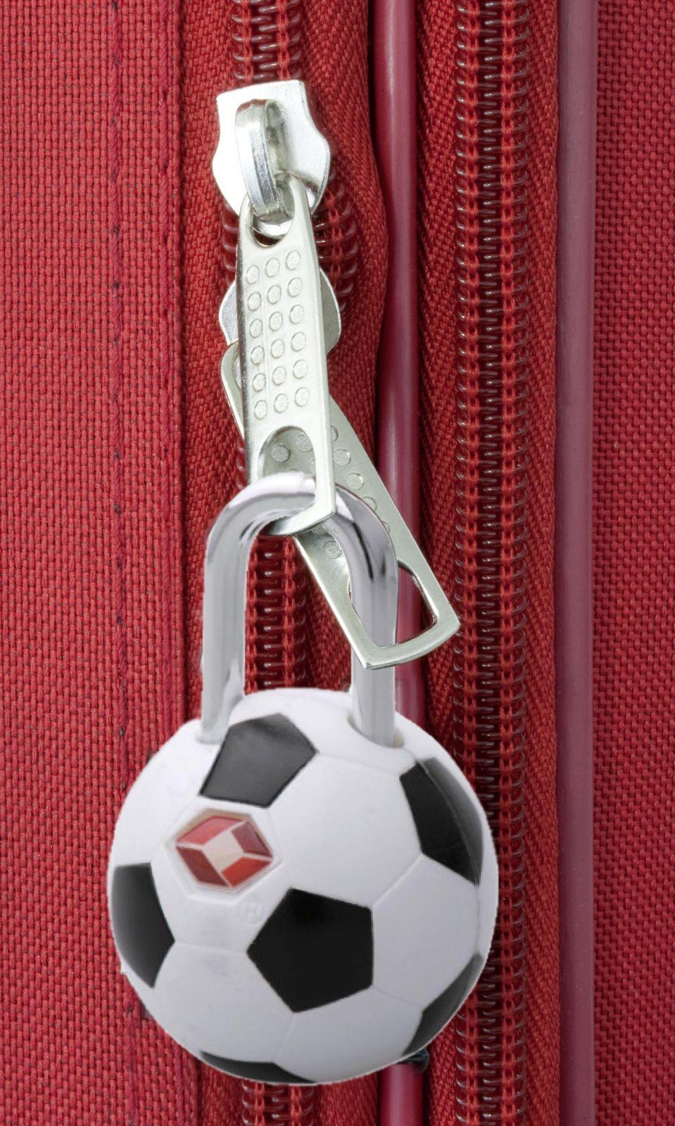 TSA zámek fotbalový míček MONOPOL E-batoh