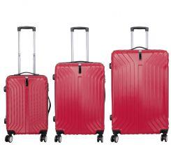 Cestovní kufr PALMA RED BRIGHT velký L MONOPOL E-batoh