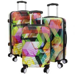 Cestovní kufry sada ABSTRAKCE L,M,S