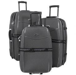 Cestovní kufry sada BALI L,M,S BLACK BRIGHT