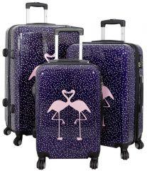 Cestovní kufry sada FLAMINGO L,M,S
