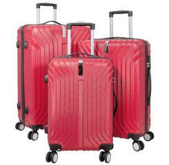 Cestovní kufry sada PALMA L,M,S RED BRIGHT