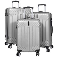 Cestovní kufry sada PALMA L,M,S SILVER BRIGHT