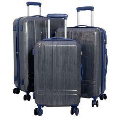 Cestovní kufry sada SAMOS L,M,S BLUE BRIGHT