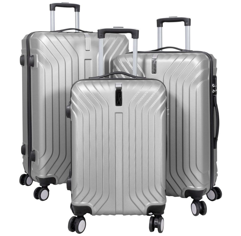 Cestovní kufr PALMA SILVER BRIGHT velký L MONOPOL E-batoh