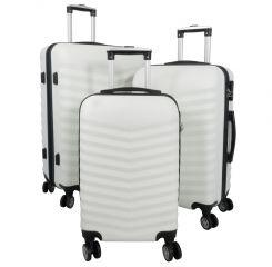 Cestovní kufr ABS BORA WHITE BRIGHT velký L