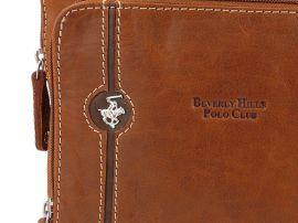 Taška crossbody kožená BHPC Explore L BH-381-75 tabáková Beverly Hills E-batoh