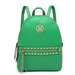 Zelený dámský stylový batůžek Miss Lulu