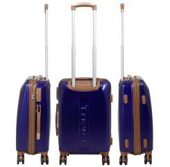 Cestovní kufr ABS Bruggy střední M modrý MONOPOL E-batoh