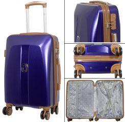 Cestovní kufr ABS Bruggy malý S modrý MONOPOL E-batoh