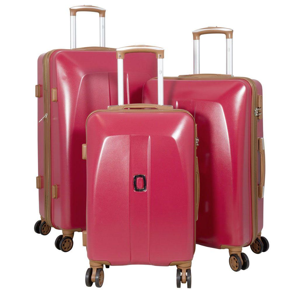 Cestovní kufr ABS Bruggy velký L červený MONOPOL E-batoh