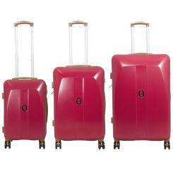Cestovní kufr ABS Bruggy střední M červený MONOPOL E-batoh