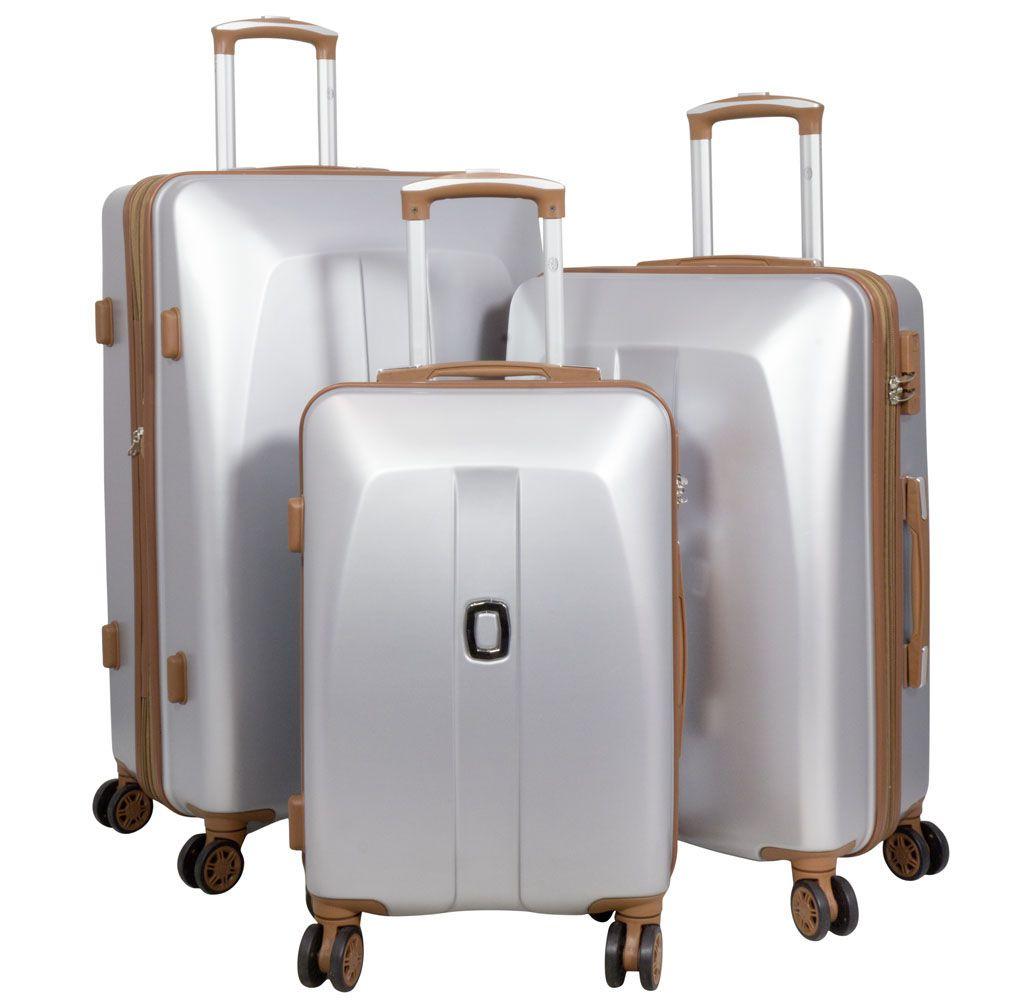 Cestovní kufr ABS Bruggy malý S stříbrný MONOPOL E-batoh