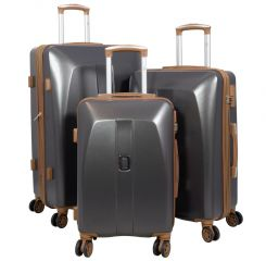 Cestovní kufr ABS Bruggy velký L tmavošedý