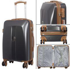 Cestovní kufr ABS Bruggy velký L tmavošedý MONOPOL E-batoh