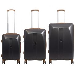 Cestovní kufr ABS Bruggy střdní M tmavošedý MONOPOL E-batoh