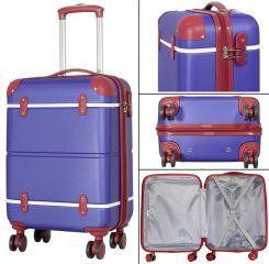 Cestovní kufr ABS BERLIN II blueRED BRIGHT velký L MONOPOL E-batoh