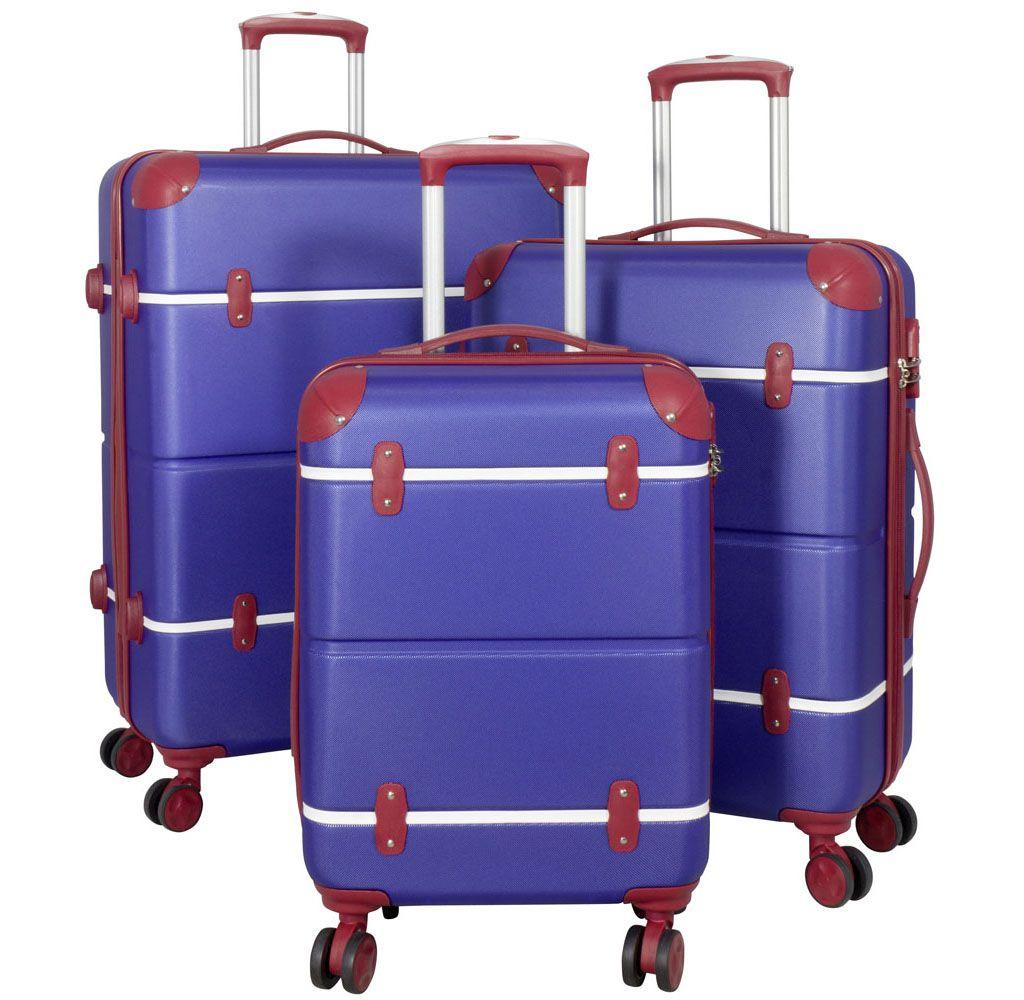 Cestovní kufr ABS BERLIN II blueRED BRIGHT malý S MONOPOL E-batoh