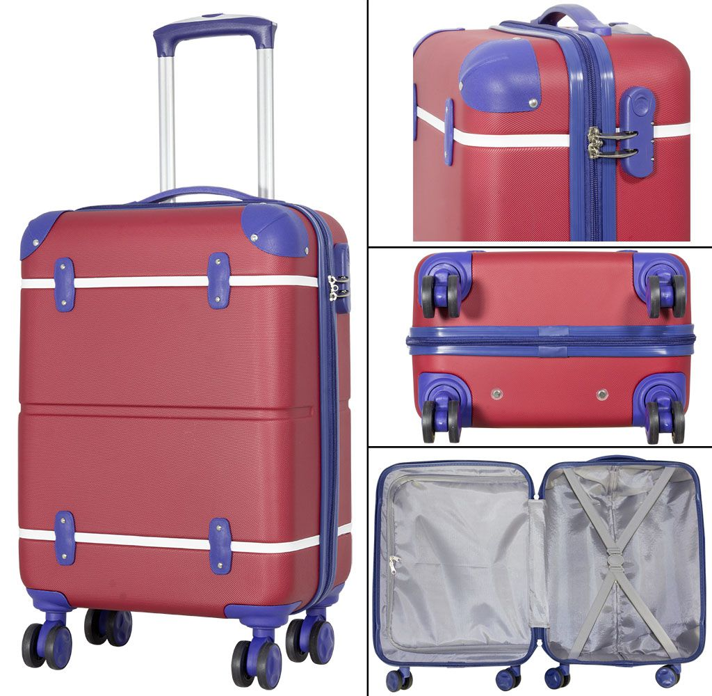 Cestovní kufr ABS BERLIN II RED BRIGHT malý S
