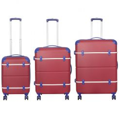 Cestovní kufr ABS BERLIN II RED BRIGHT malý S MONOPOL E-batoh