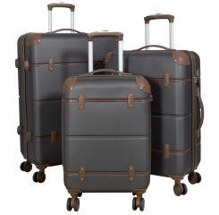 Cestovní kufry ABS sada BERLIN II L,M,S ANTRAZIT BRIGHT