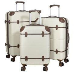 Cestovní kufry ABS sada BERLIN II L,M,S BEIGE BRIGHT