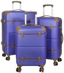 Cestovní kufry ABS sada BERLIN II L,M,S BLUE BRIGHT