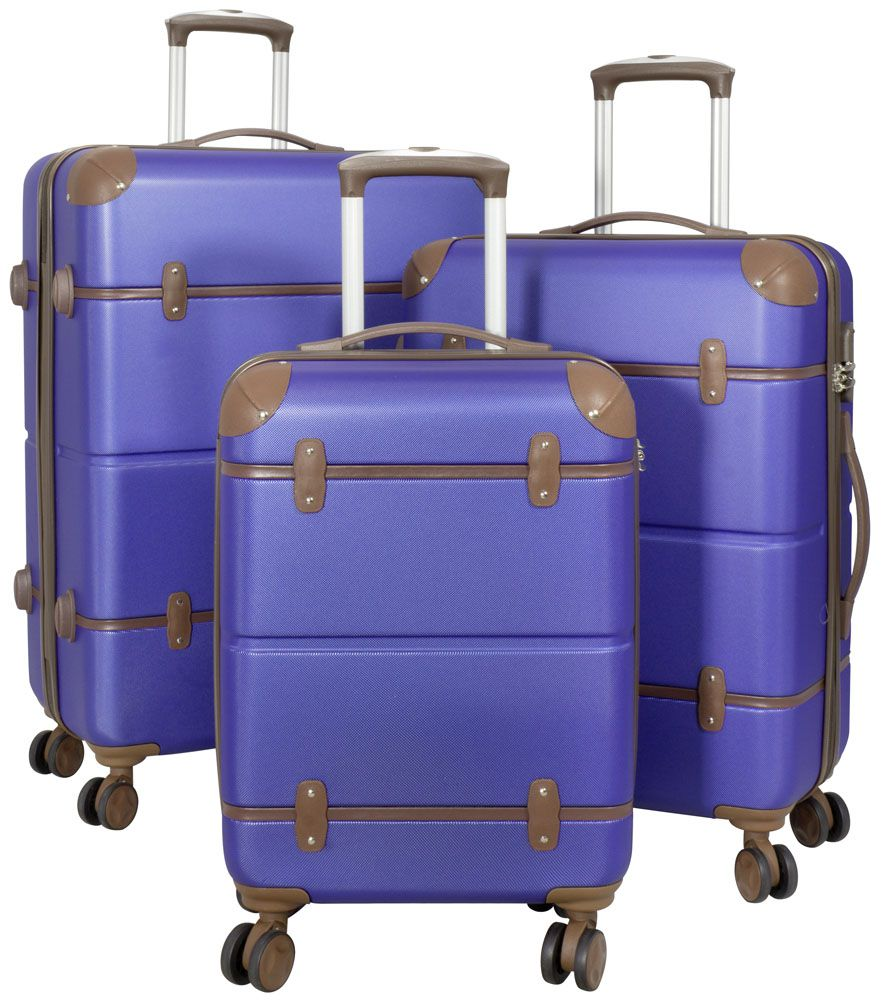 Cestovní kufry ABS sada BERLIN II L,M,S BLUE BRIGHT MONOPOL E-batoh