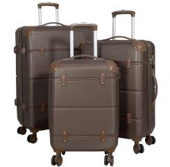 Cestovní kufry ABS sada BERLIN II L,M,S BRAUN BRIGHT