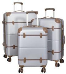 Cestovní kufry ABS sada BERLIN II L,M,S SILVER BRIGHT