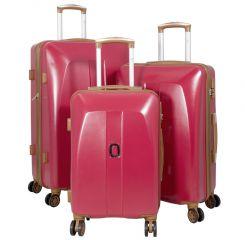 Cestovní kufry ABS sada Bruggy L,M,S červené