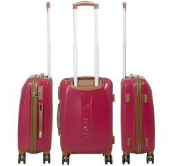 Cestovní kufry ABS sada Bruggy L,M,S červené MONOPOL E-batoh
