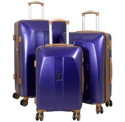 Cestovní kufry ABS sada Bruggy L,M,S modré