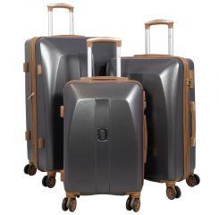 Cestovní kufry ABS sada Bruggy L,M,S tmavěšedé