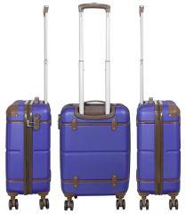 Cestovní kufr ABS BERLIN II BLUE BRIGHT střední M MONOPOL E-batoh